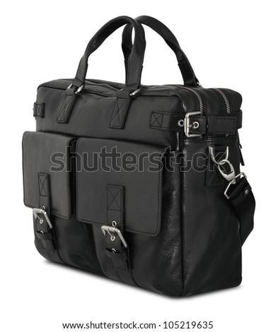 Black man's bag isolated on white background - stock photo