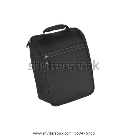 Black man's bag on a white background