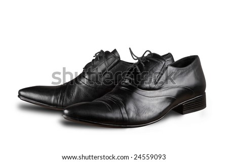 Black man's shoes - stock photo