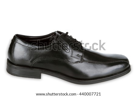 Black man shoes isolated on white background - stock photo