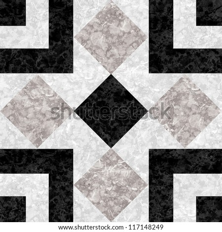 Black Marble Mosaic texture. (High.Res.) - stock photo