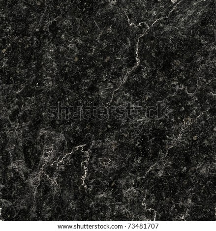 Black marble texture background (High resolution scan) - stock photo