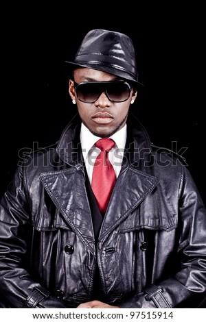 Black men rap cool glasses - stock photo