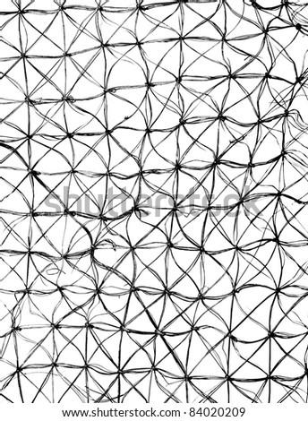 Black mesh texture to background on white - stock photo