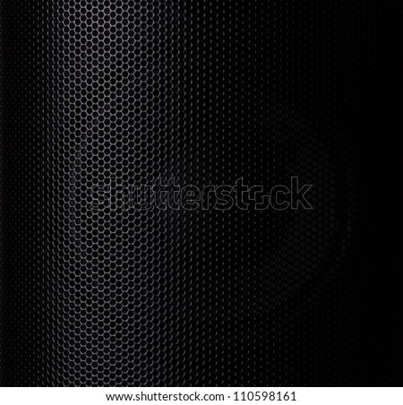 Black Metal Cells Texture - stock photo