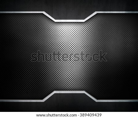 black metal design background - stock photo