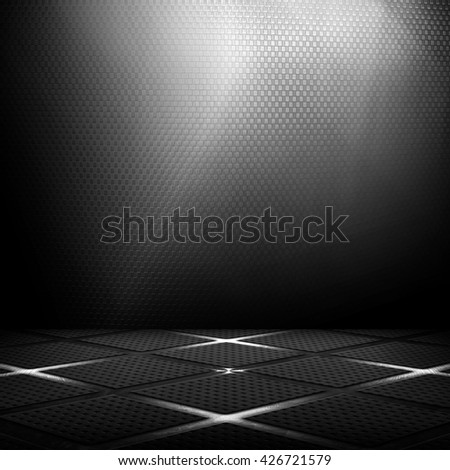 black metal interior background  - stock photo