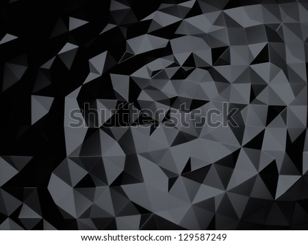 Black metallic background with abstract foil - stock photo