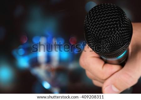 Black mic. - stock photo