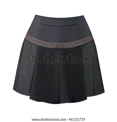 black mini-skirt