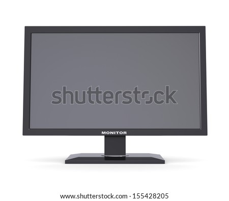 Black monitor. Isolated render on a white background