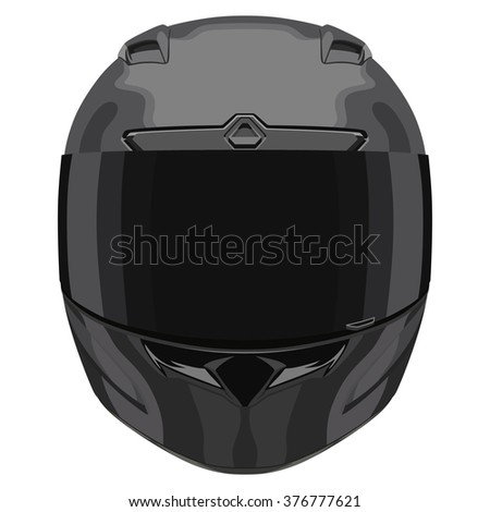 Black motorcycle helmet on a white background