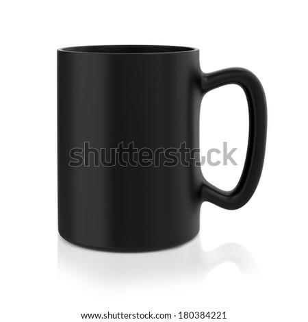 Black Mug - stock photo