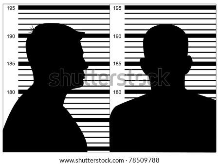 Black mug shot on white background - stock photo