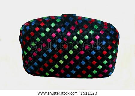 Black multi clutch purse - stock photo