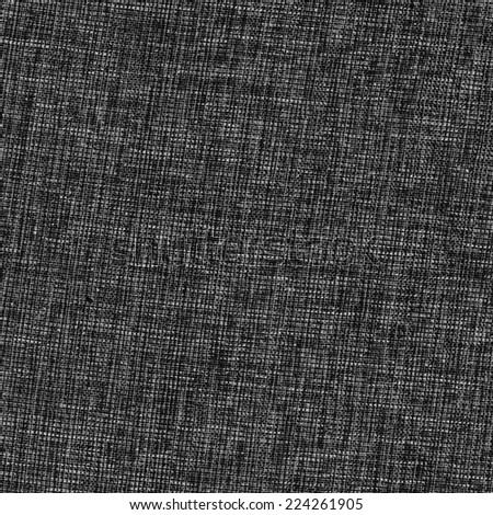 black natural linen texture  - stock photo