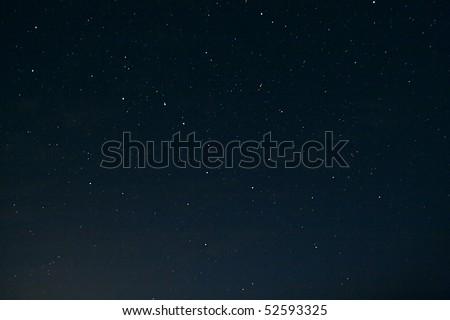 Black night sky plenty of stars with Great Bear - stock photo