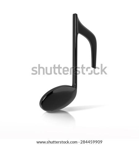 Black note on white background  - stock photo