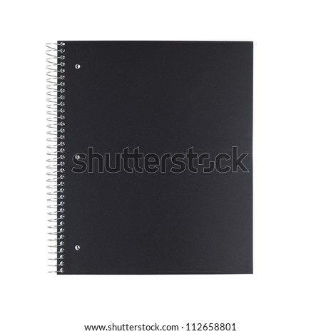 Black Notebook Isolated On White