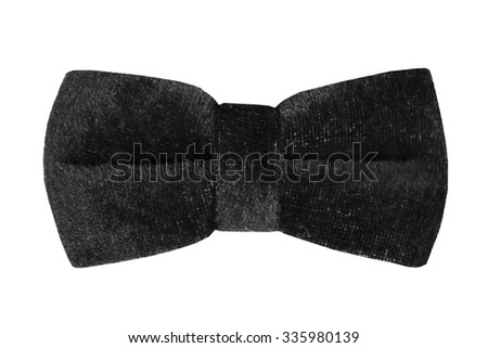 black of ribbon bow on an isolated white background