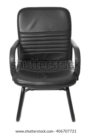 black office boss chair - stock photo