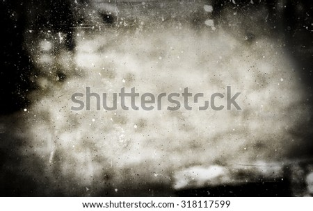Black old dirty vintage grunge background with scratchs - stock photo