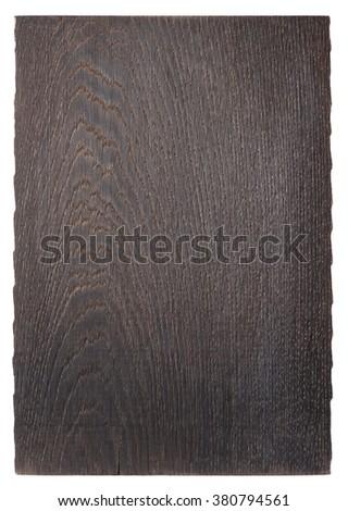 Black old oak cutting board isolated on white background - stock photo