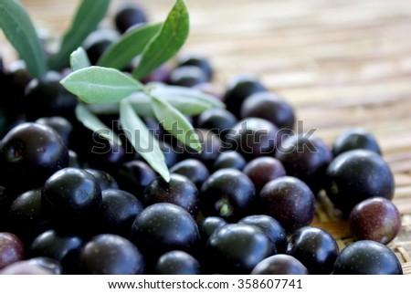 Black Olives 1 - stock photo