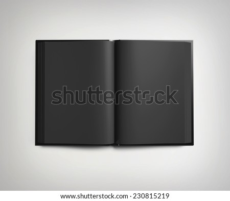 Black open book - stock photo