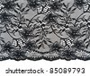 Black openwork lace isolated on a white background - stock photo