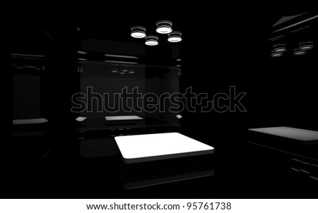 black operating - stock photo