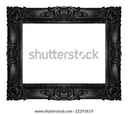 Black ornate frame, similar available in my portfolio - stock photo