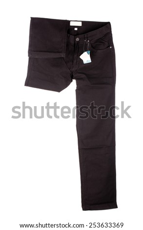 Black pants. Front view Isolated on a white background
