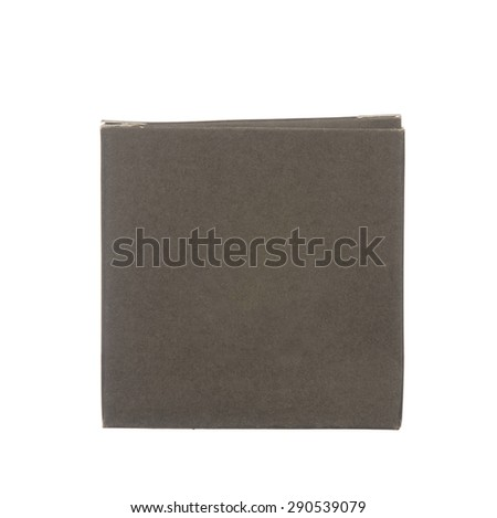 Black paper box isolated on white background - stock photo
