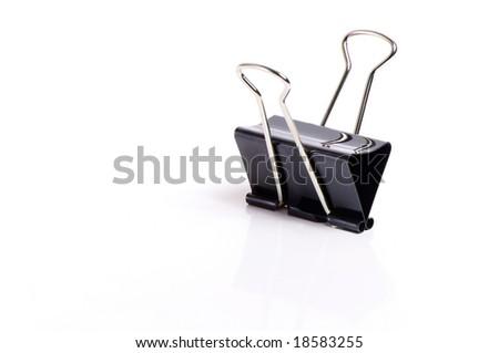 black paperclip - stock photo