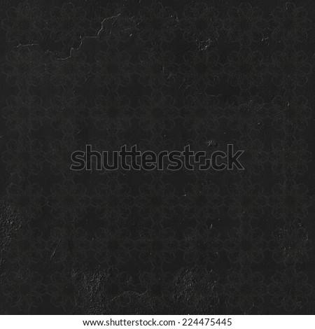 black pattern wall - stock photo
