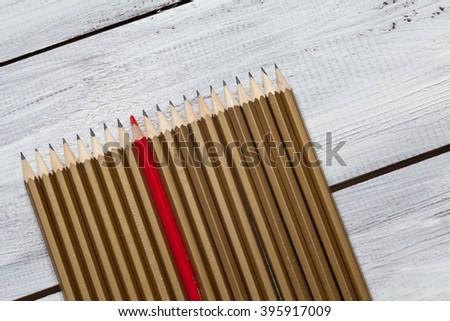 Black pencil - stock photo