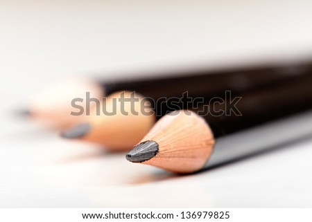 black pencils - stock photo