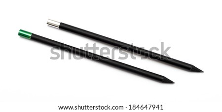 Black pencils isolated on a white background