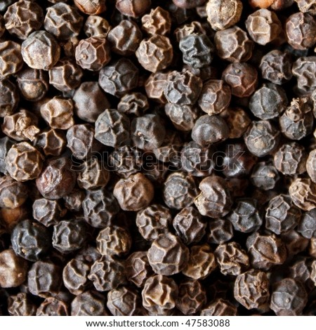 Black pepper zoomed in on - stock photo