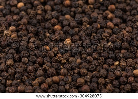 Black pepper zoomed in on and close up texture - stock photo