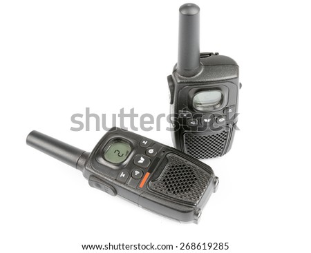 Black Personal Radio isolated on white bakcground - stock photo