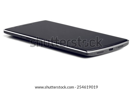 Black Phone Isolated On White Background