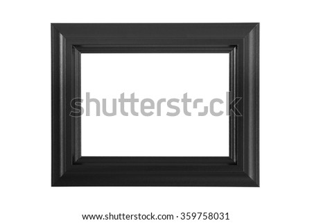 Black picture frame on white