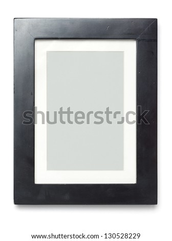 Black picture frame with empty content