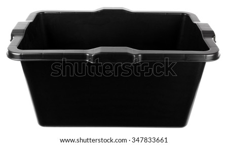 Black plastic trough - stock photo