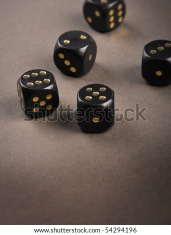 black playing bones - stock photo