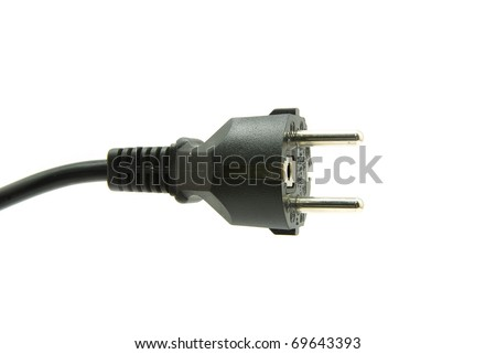 black power plug - stock photo