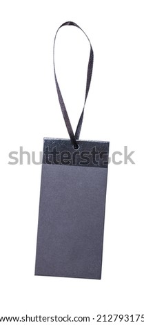 black price label tag isolated - stock photo