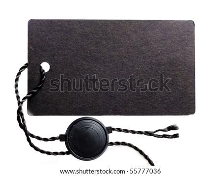 black price tag - stock photo